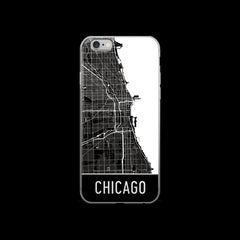 Chicago Map iPhone 6 or 6s Case by Modern Map Art