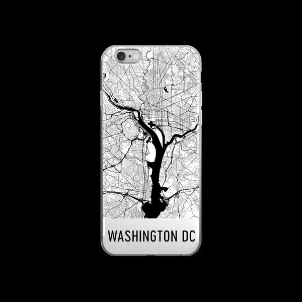 Washington DC Map iPhone 5 or 5s Case by Modern Map Art