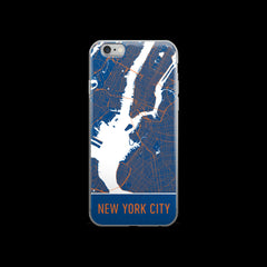 New York Map iPhone 6 Plus or 6s Case by Modern Map Art