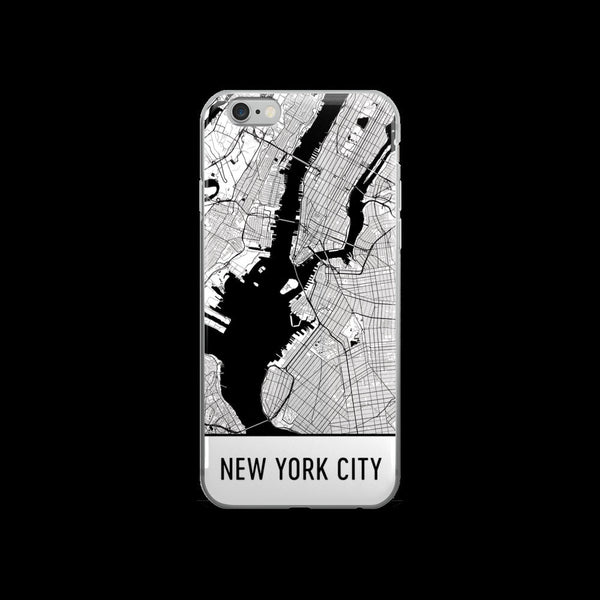 New York Map iPhone 5 or 5s Case by Modern Map Art