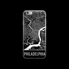 Philadelphia Map iPhone 6 or 6s Case by Modern Map Art