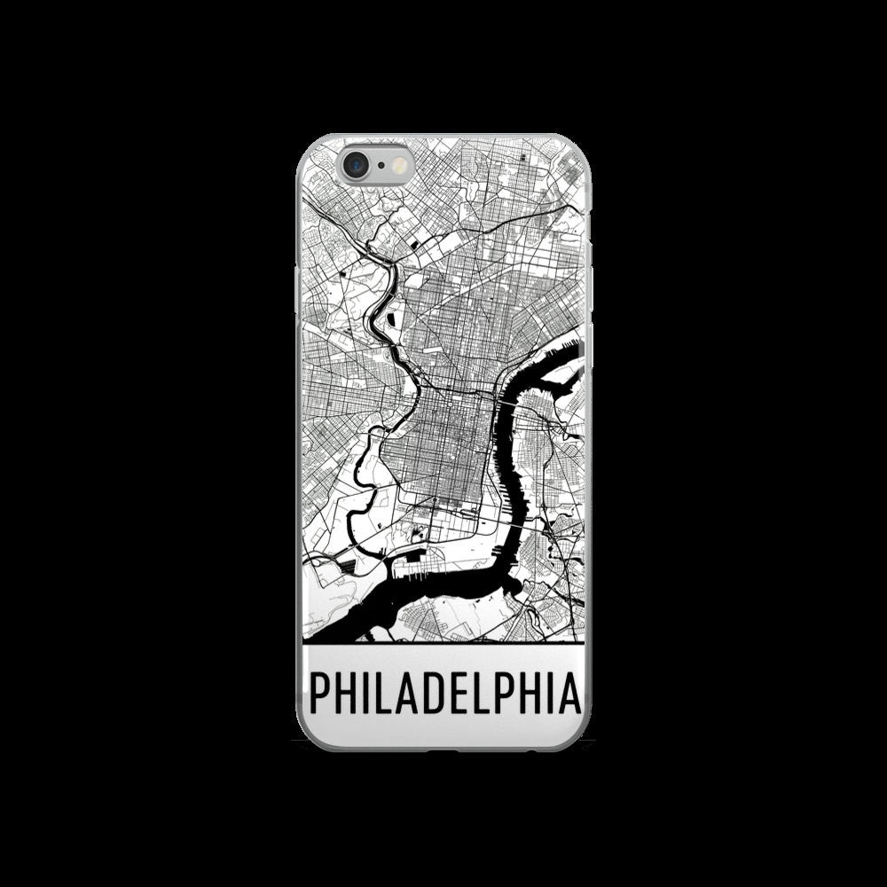 Philadelphia Map iPhone 5 or 5s Case by Modern Map Art