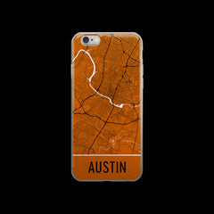 Austin Map iPhone 6 Plus or 6s Case by Modern Map Art