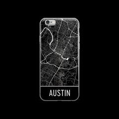 Austin Map iPhone 6 or 6s Case by Modern Map Art