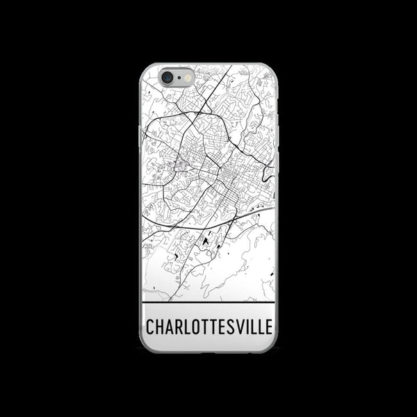 Charlottesville iPhone Case, Phone Case, Charlottesville VA Phone Case ,From $29.99 - Modern Map Art - Modern Map Art