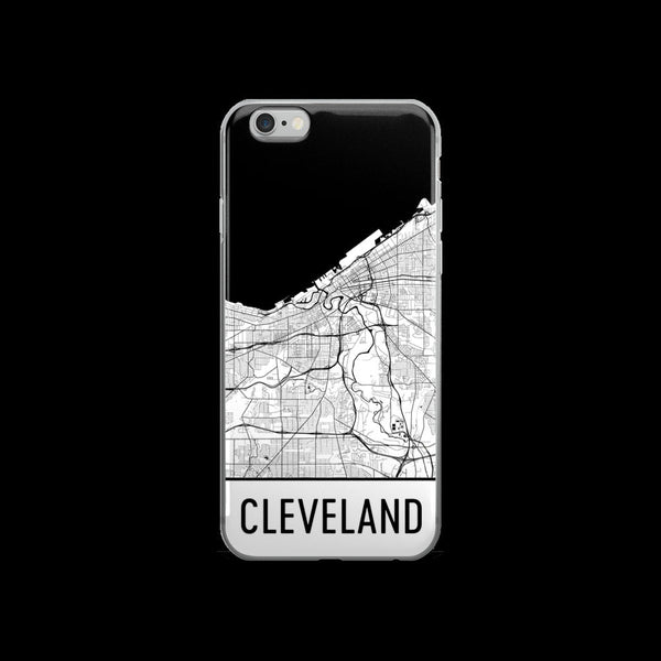 Cleveland iPhone Case,Phone Case, Cleveland OH Phone Case,From $29.99 - Modern Map Art - Modern Map Art