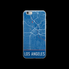 Los Angeles Map iPhone 6 or 6s Case by Modern Map Art