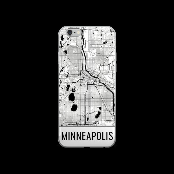Minneapolis Map iPhone 5 or 5s Case by Modern Map Art