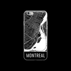 Montreal Map iPhone 6 or 6s Case by Modern Map Art