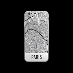 Paris Map iPhone 5 or 5s Case by Modern Map Art