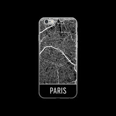 Paris Map iPhone 6 or 6s Case by Modern Map Art