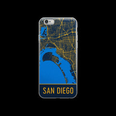 San Diego Map iPhone 6 or 6s Case by Modern Map Art