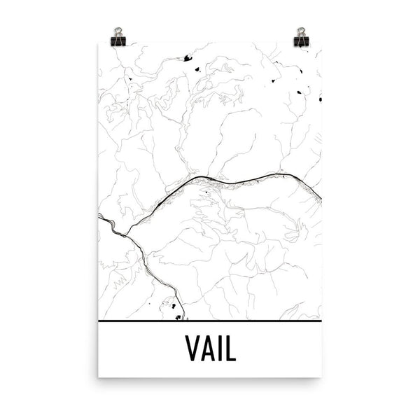 Cupertino CA Street Map Poster White