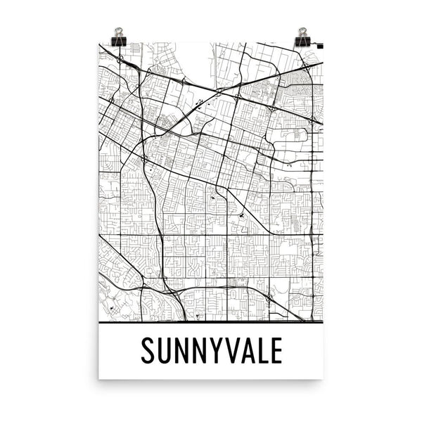 Sunnyvale Gifts and Sunnyvale Decor From Modern Map Art