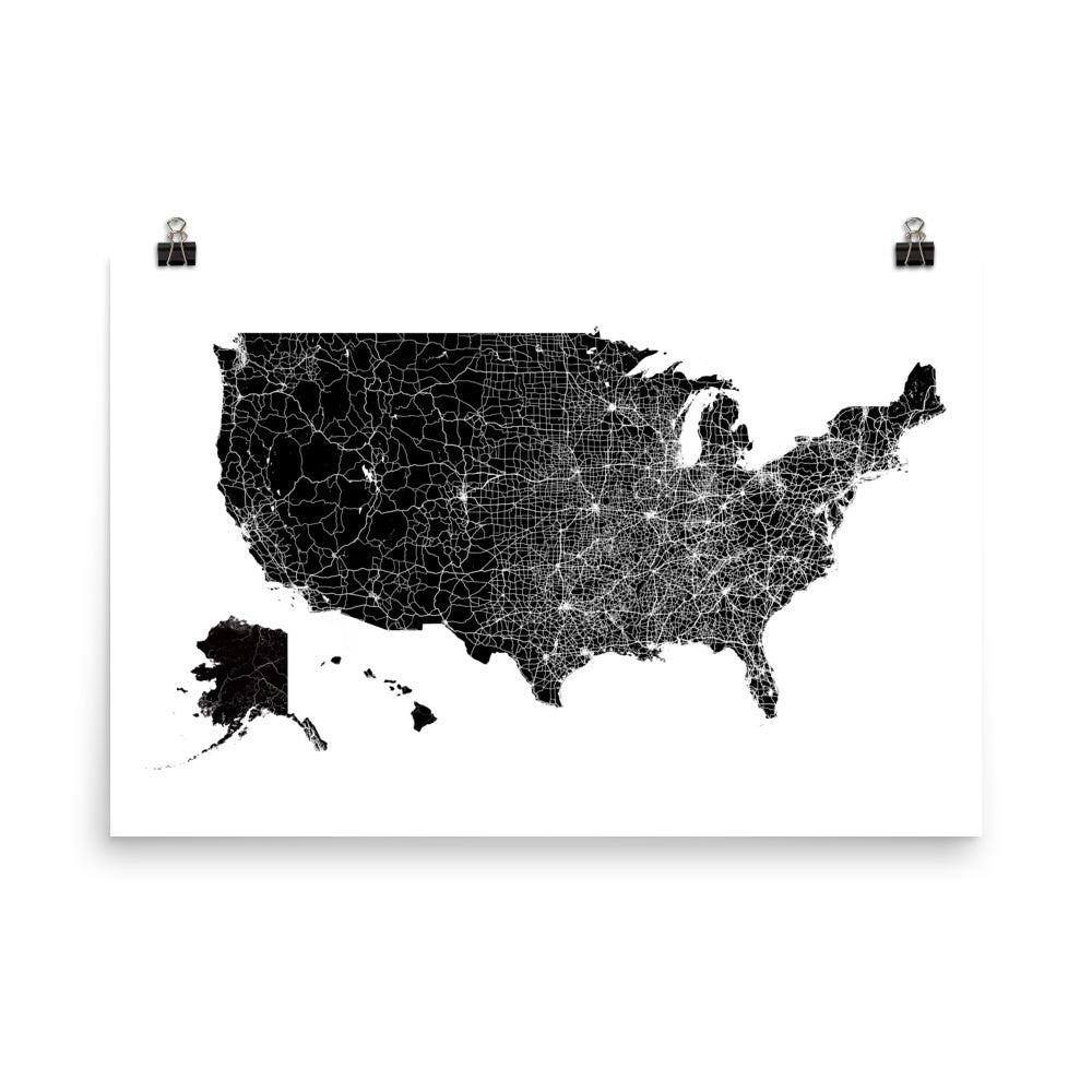 US Map Poster | Wall Print Decor by Modern Map Art