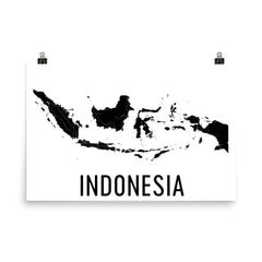 Indonesia Map, Art, Print, Poster, Wall Art From $29.99 - ModernMapArt - Modern Map Art