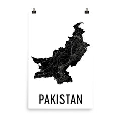 Pakistan Map Poster
