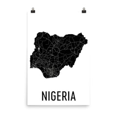 Nigeria Map Poster