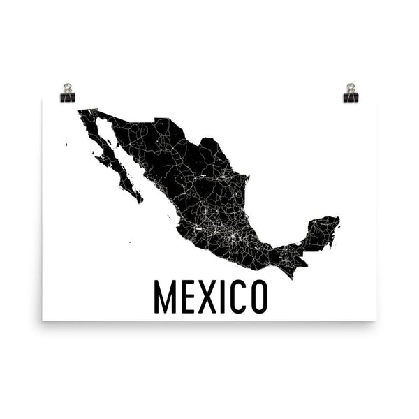 Mexico Map Poster