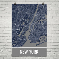 New York City NY Street Map Poster Green