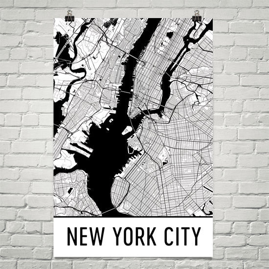 Map Of New York Poster.New York City Ny Street Map Poster