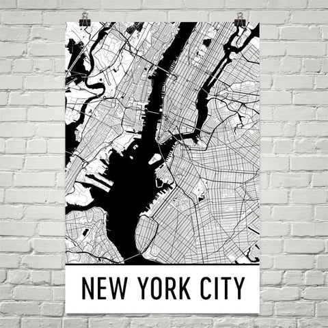 New York Gifts, Souvenirs, and NY Décor – Modern Map Art