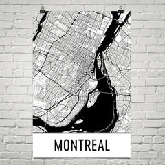 Montreal QC Street Map Poster White