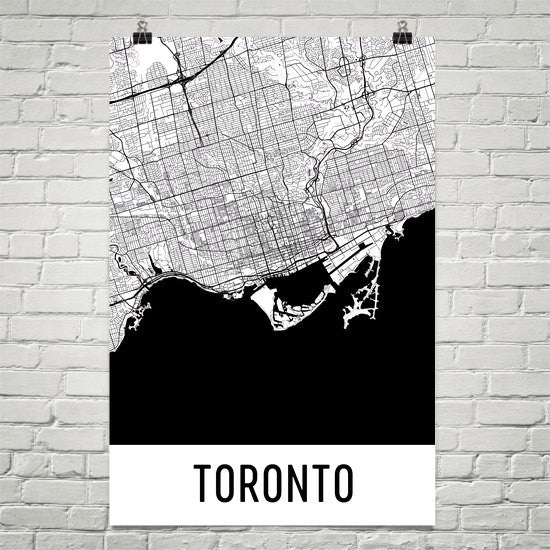 Toronto ON Street Map Poster Black
