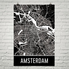 Amsterdam Street Map Poster Orange