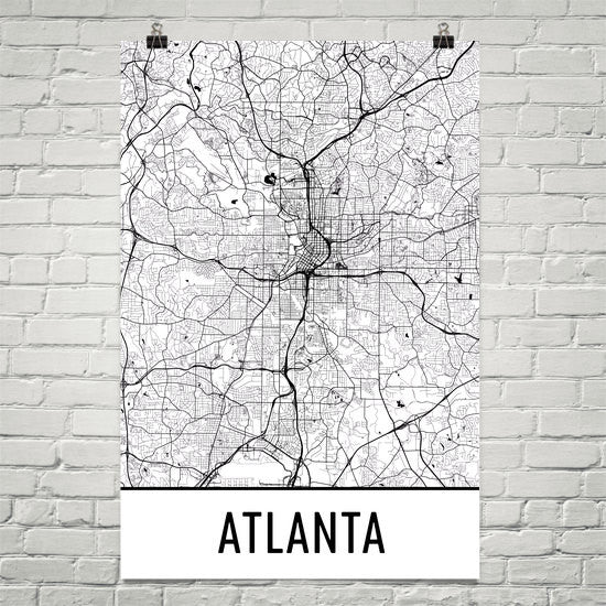 Atlanta Street Map Poster Black