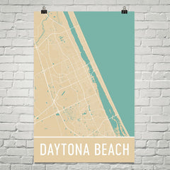 Daytona Beach FL Street Map Poster Black