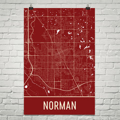 Norman Street Map Poster Red