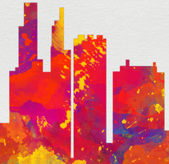Philadelphia PA Skyline, Canvas, Art, Watercolor Skyline From $29.99 - Modern Map Art - Modern Map Art