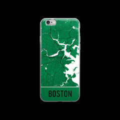 Boston Map iPhone 6 Plus or 6s Case by Modern Map Art