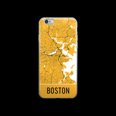 Boston Map iPhone 7 Case by Modern Map Art