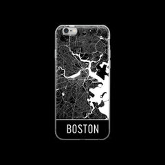 Boston Map iPhone 6 or 6s Case by Modern Map Art
