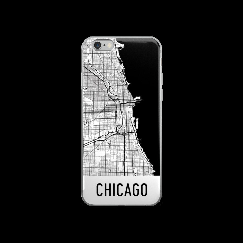 Chicago Map iPhone 5 or 5s Case by Modern Map Art