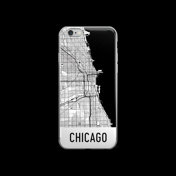 Chicago iPhone Case, Phone Case, Chicago IL Phone Case, From $29.99 - Modern Map Art - Modern Map Art