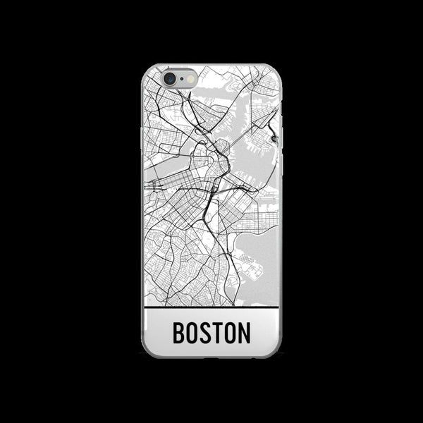 Boston Map iPhone 5 or 5s Case by Modern Map Art