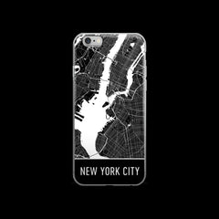 New York Map iPhone 6 or 6s Case by Modern Map Art