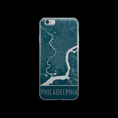 Philadelphia Map iPhone 6 Plus or 6s Case by Modern Map Art
