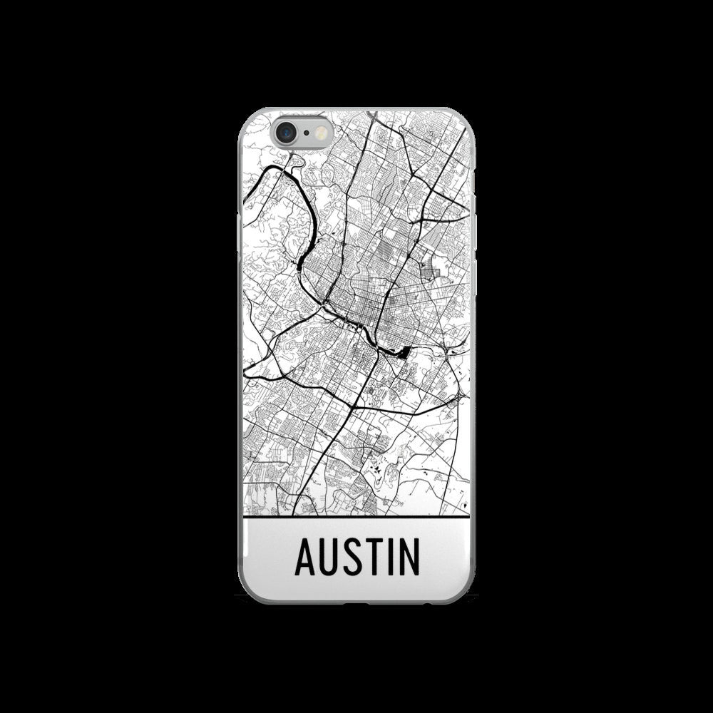 Austin Map iPhone 5 or 5s Case by Modern Map Art
