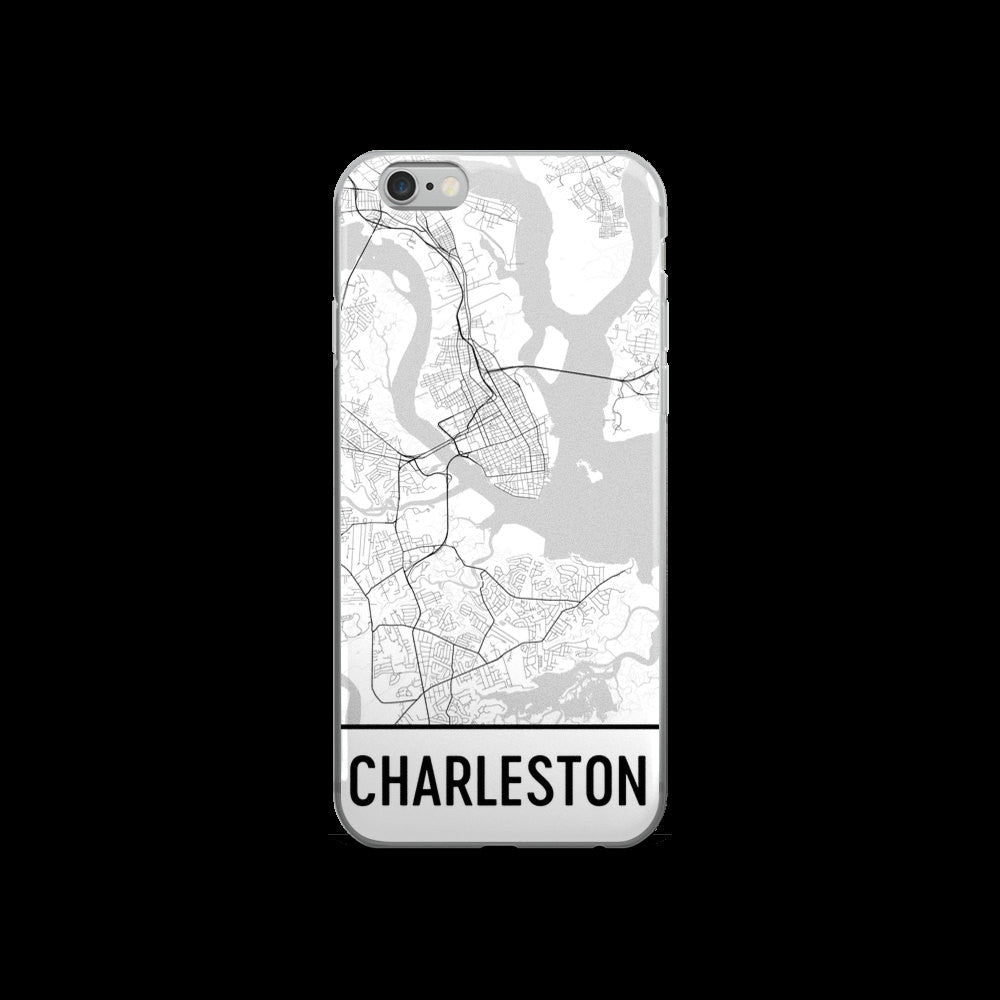 Charleston Map iPhone 5 or 5s Case by Modern Map Art