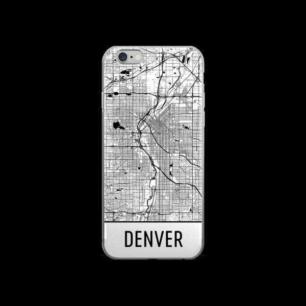 Denver Map iPhone 5 or 5s Case by Modern Map Art