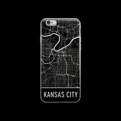 Kansas City Map iPhone 6 or 6s Case by Modern Map Art