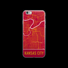 Kansas City Map iPhone 6 Plus or 6s Case by Modern Map Art
