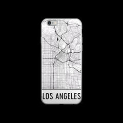Los Angeles Map iPhone 5 or 5s Case by Modern Map Art