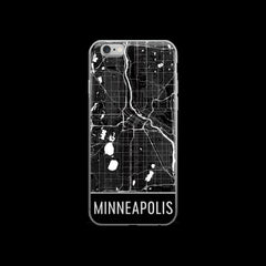 Minneapolis Map iPhone 6 or 6s Case by Modern Map Art