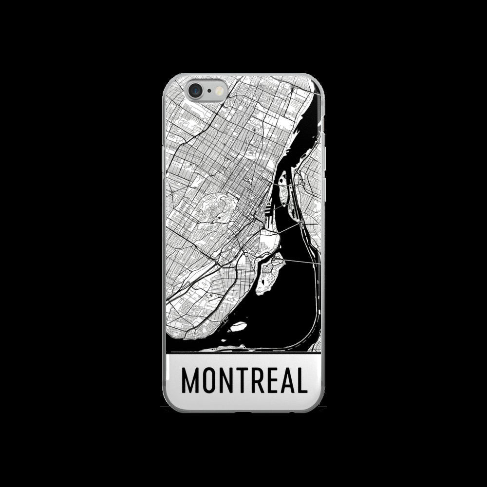 Montreal Map iPhone 5 or 5s Case by Modern Map Art