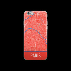 Paris Map iPhone 6 Plus or 6s Case by Modern Map Art